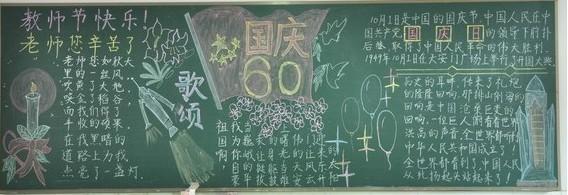 小学国庆节黑板报图