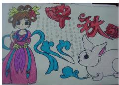 二年级中秋节的手抄报图片图