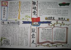 2016七一建党节手抄报图片
