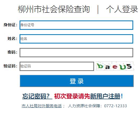 柳州个人社保缴费查询系统