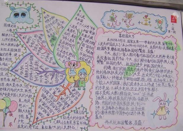 三年级国庆节手抄报图片
