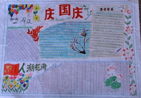 小学三年级国庆节手抄报图片(2)图片